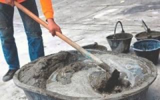 В какой пропорции смешивать цемент с песком для фундамента бани