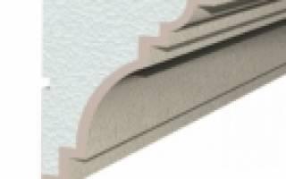 Лепнина для фасада дома из пенопласта