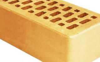 Описание желтого облицовочного кирпича