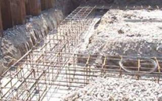 Армирование ленточного фундамента шириной 50 см и в глубину 80см