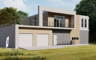 Проекты коттеджей и домов в стиле хай тек