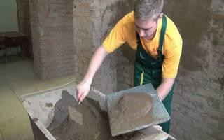 Как развести цемент без песка для штукатурки стен?