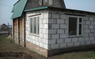Армопояс гаража пристроенный к дому из газобетона на одном фундаменте