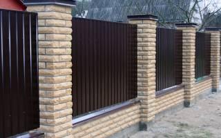 Декоративные столбы на забор из профлиста