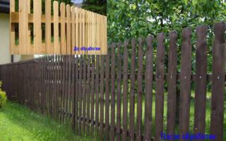Как защитить деревянный забор от гниения?