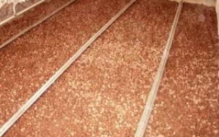 Утепление крыши керамзитом толщина слоя пароизоляция