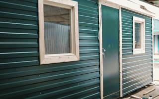 Как обшить дом из бруса снаружи профнастилом?
