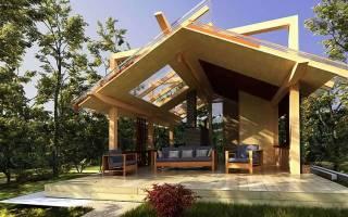 Стропильная система асимметричная двускатная крыша
