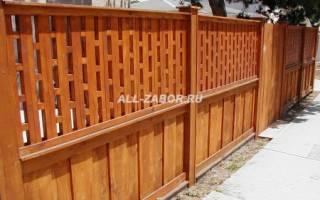 Деревянный забор для дачи с воротами