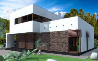 Проекты домов из сип панелей в стиле хай тек