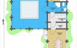 Строительство бани с бассейном своими руками от фундамента до крыши