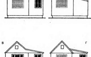Примыкающая к фронтону веранда с двухскатной крышей