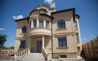 Необычные решения фасадов с дагестанским камнем