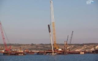 Типы свай в фундаментах опор моста через керченский пролив