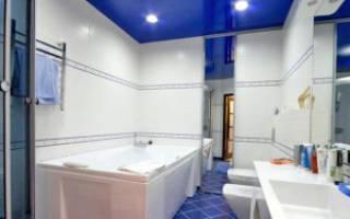 Конструкция и виды натяжных потолков для ванных комнат