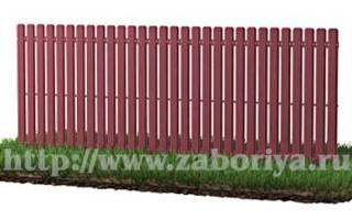 Забор перед домом из металлического штакетника