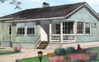 Дом шале одноэтажный 6 на 9 планировка