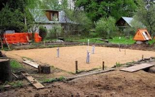 Для каких целей устраивают песчаную подушку под подошвой фундаментов