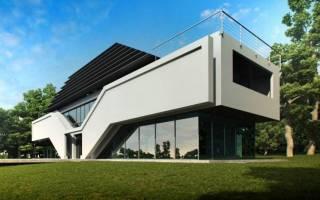 Проект современного дома в стиле хай тек
