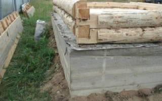 Какой высоты должен быть фундамент для бани из бруса?