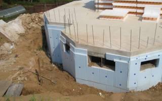 Ленточный фундамент для дома с подвалом или цокольным этажом