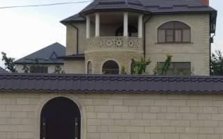 Дагестанский камень для фасада дома