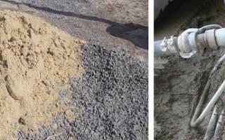 В какой пропорции мешать цемент с песком для фундамента