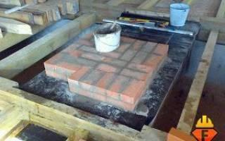 Свайный фундамент под печь в деревянном доме своими руками