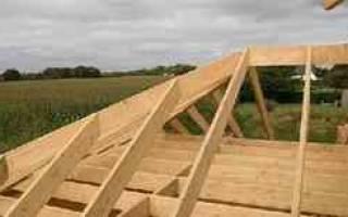 Двухскатная крыша с опиранием стропил на балки перекрытия