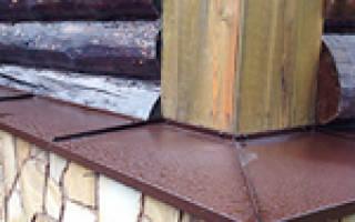 Отливы на фундамент бревенчатого дома