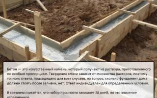 Через какое время после заливки фундамента можно начинать строить дом