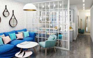 Как оформить проем в стене между кухней и гостиной?