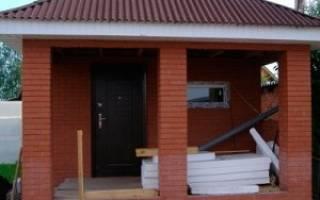 Строительство бани своими руками от фундамента до крыши из кирпича
