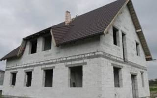 Двухскатная крыша для полумансарды