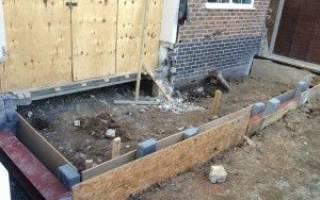 Как правильно выкопать фундамент под пристройку к дому своими руками?