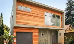 Отделка дома снаружи фасадными панелями под кирпич