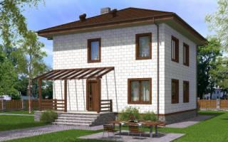Проект фундамента и 2х этажного дома 9х9 из газосиликатных блоков