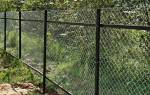 Как установить забор из сетки рабицы своими руками на даче?