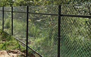 Как установить забор из сетки рабицы своими руками без сварки?