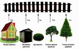 Расстояние до забора от садового домика