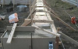 Сколько должен отстояться фундамент после заливки для дома из пеноблоков