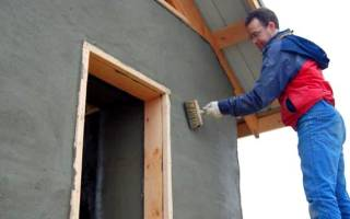Как сделать штукатурку фасадную своими руками?