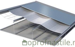 Как сделать пароизоляцию на крышу под профлист для холодного гаража?