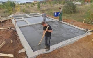 Ленточный фундамент полы по грунту