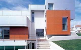 Фасадные алюминиевые панели для наружной отделки