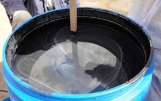 В какой пропорции смешивать битум и масло для фундамента