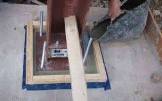 Примыкающий фундамент несущей конструкции был перенесен в нижнюю часть колонны
