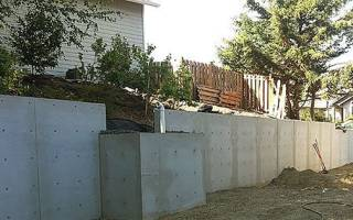 Опалубка для подпорной стенки