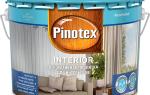 Пинотекс для внутренних работ по дереву цвета пропитка