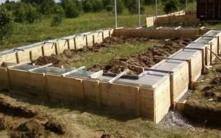 Какой высоты должен быть фундамент для бани из керамзитобетонных блоков?